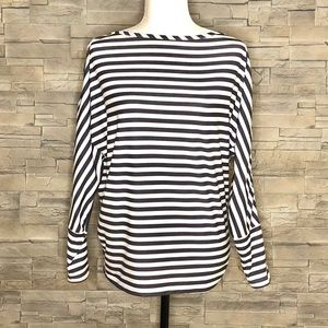 Helly Hansen white and navy striped top
